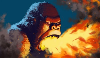 Fire breathing gorilla
